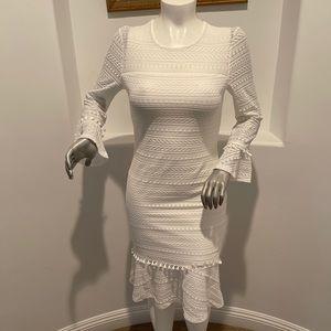 SHILLA THE LABEL Status Line-Lace Midi Dress XL